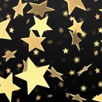 Golden Stars Pattern 2560x1600